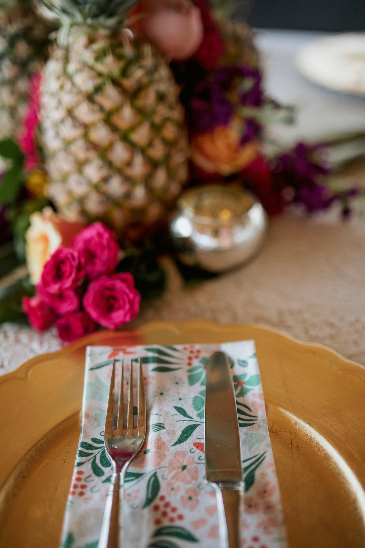 Vintage Floral Napkins