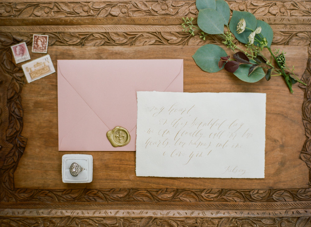 Mauve and Cream Wedding Invitation