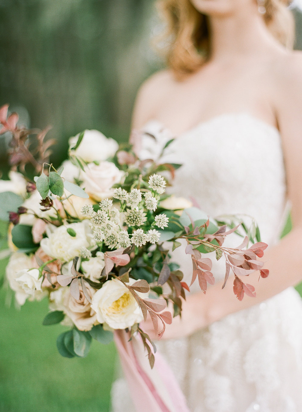 Mauve and Cream Flowers
