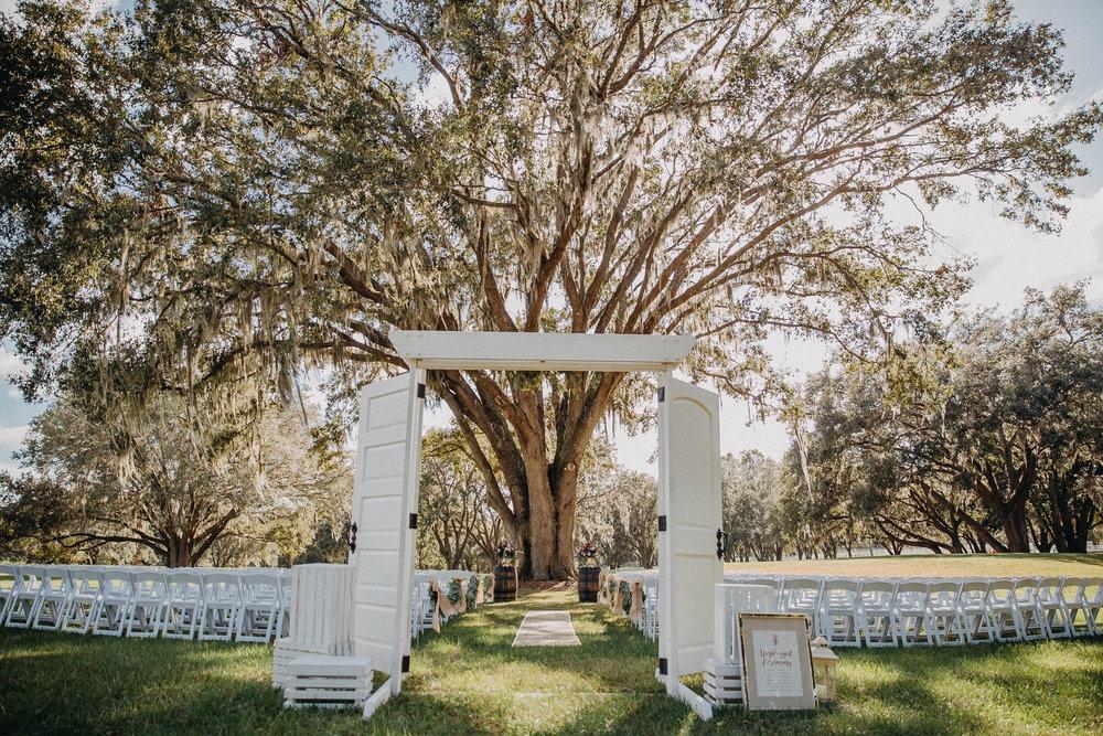 Ceremony White Doors