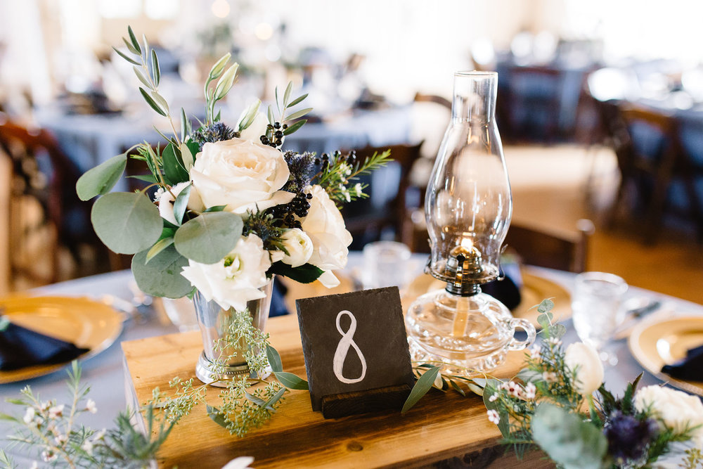 Wood Crate Centerpieces