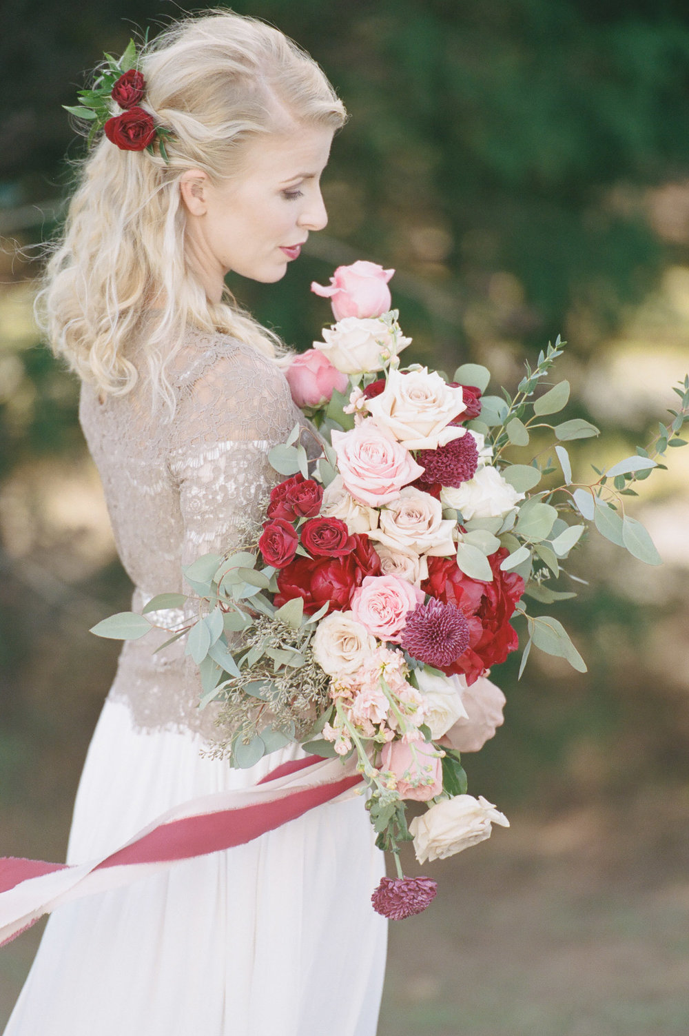Berry Colored Brides Bouquet