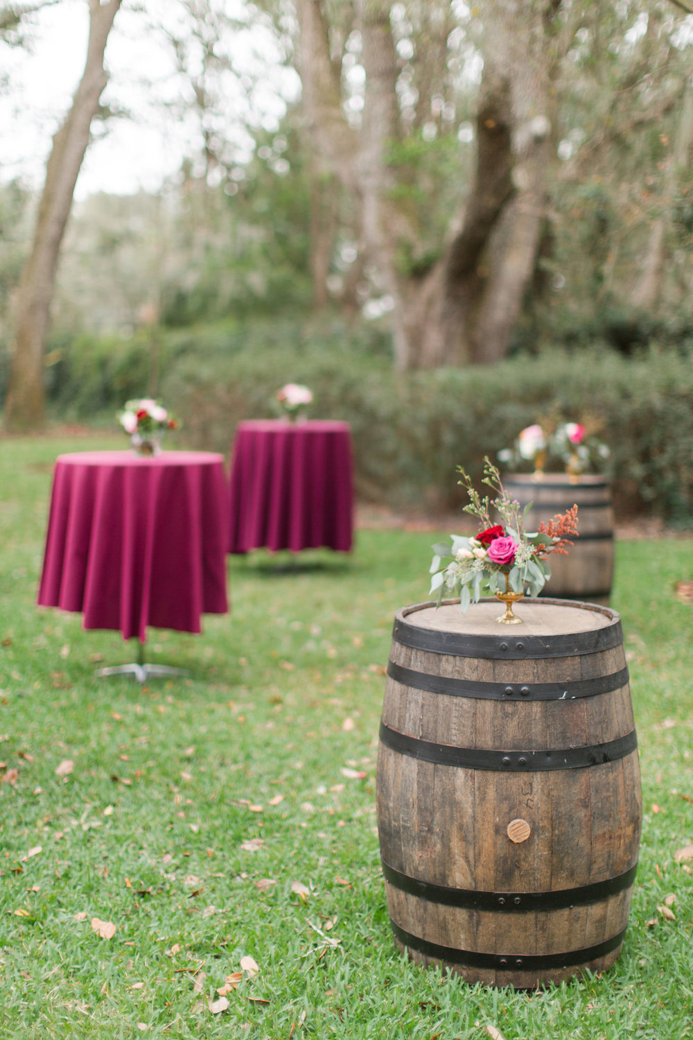 Wine Barrel Cocktail Tables