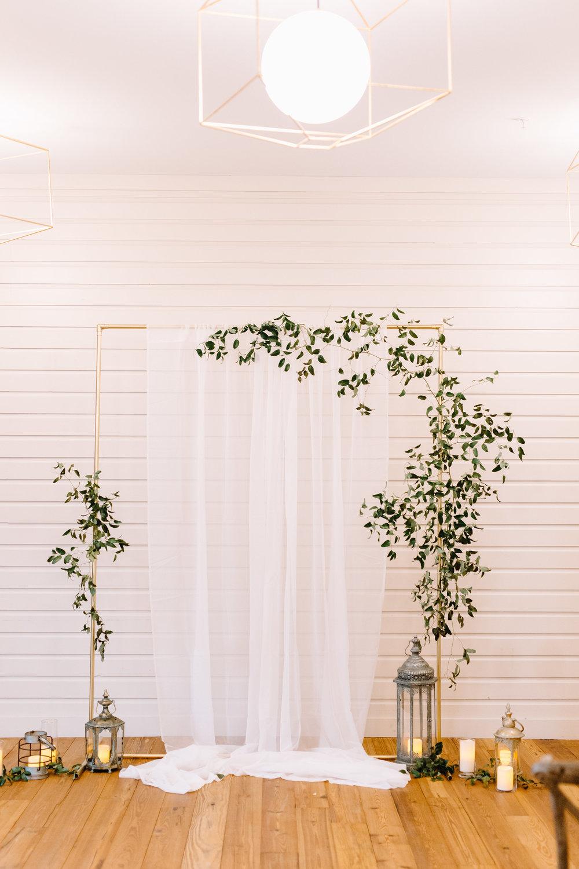 Modern Romance Minimalist Ceremony Arch