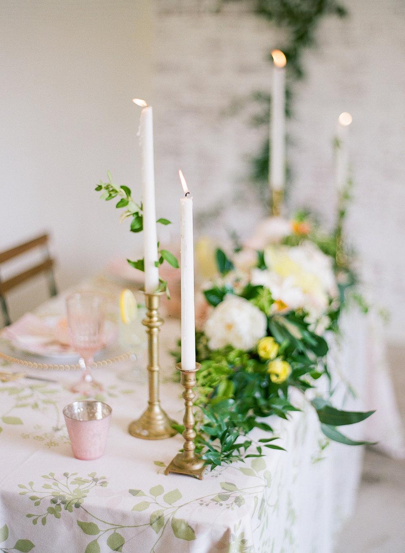 romantic industrial wedding decor