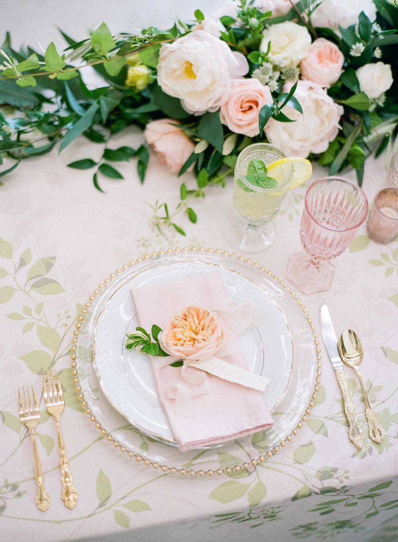 wedding floral linen tablecloth