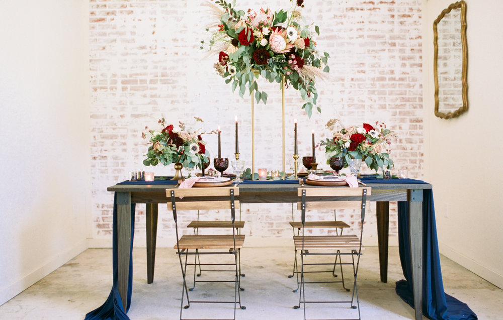 Burgundy And Navy Wedding Centerpieces For Different Budgets Ever