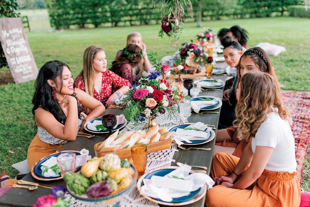 Table boho farm table rentals