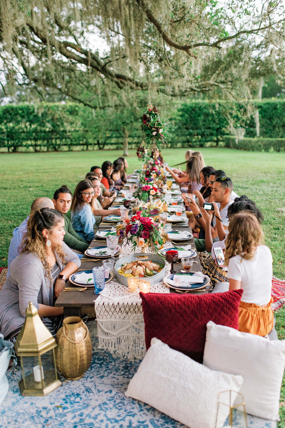 Low farm table rentals tampa