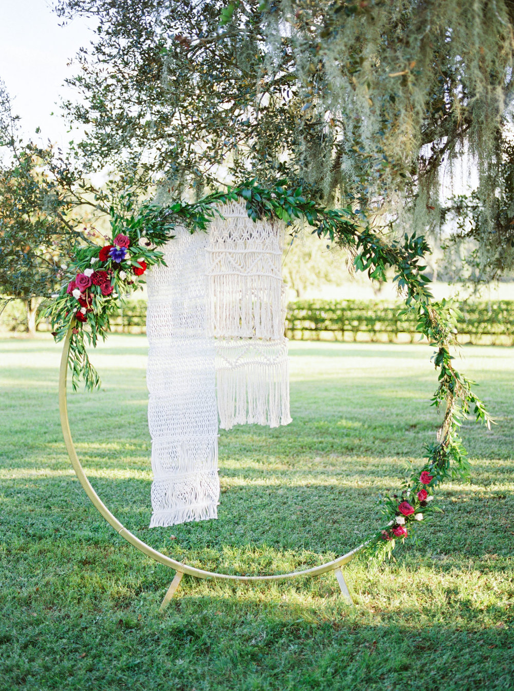 Boho Circle Ceremony arch