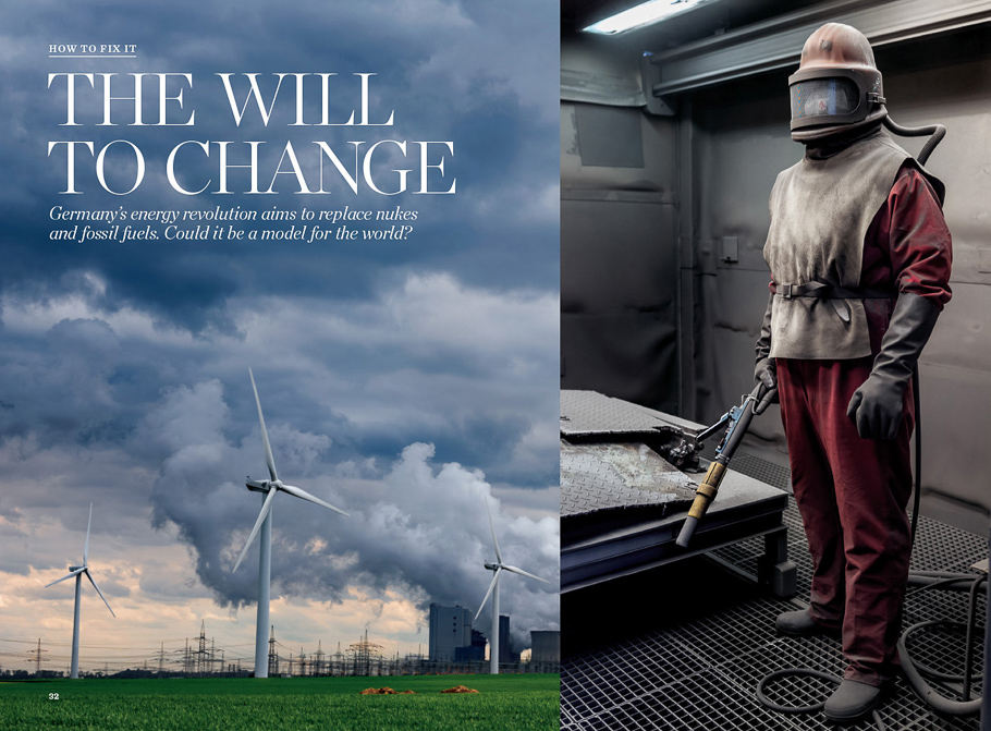 NATIONAL GEOGRAPHIC MAGAZINE GERMANY ENERGY TRANSITION   Energy production is the main responsible for the Climate Change. Germany might have a solution to create green energy.