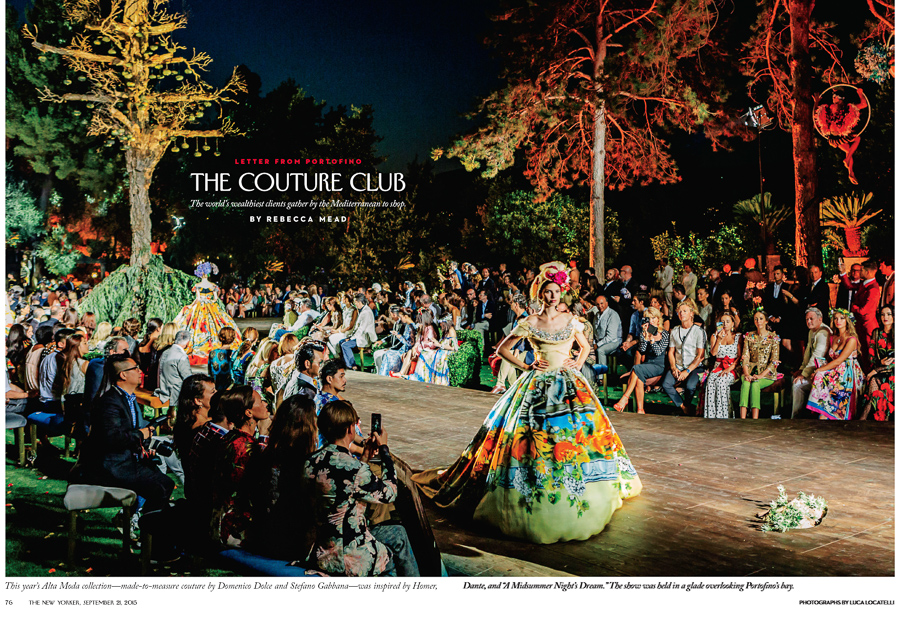 THE NEW YORKER - THE COUTURE CLUB   The World's wealthiest clients gather by the mediterranean to shop for couture