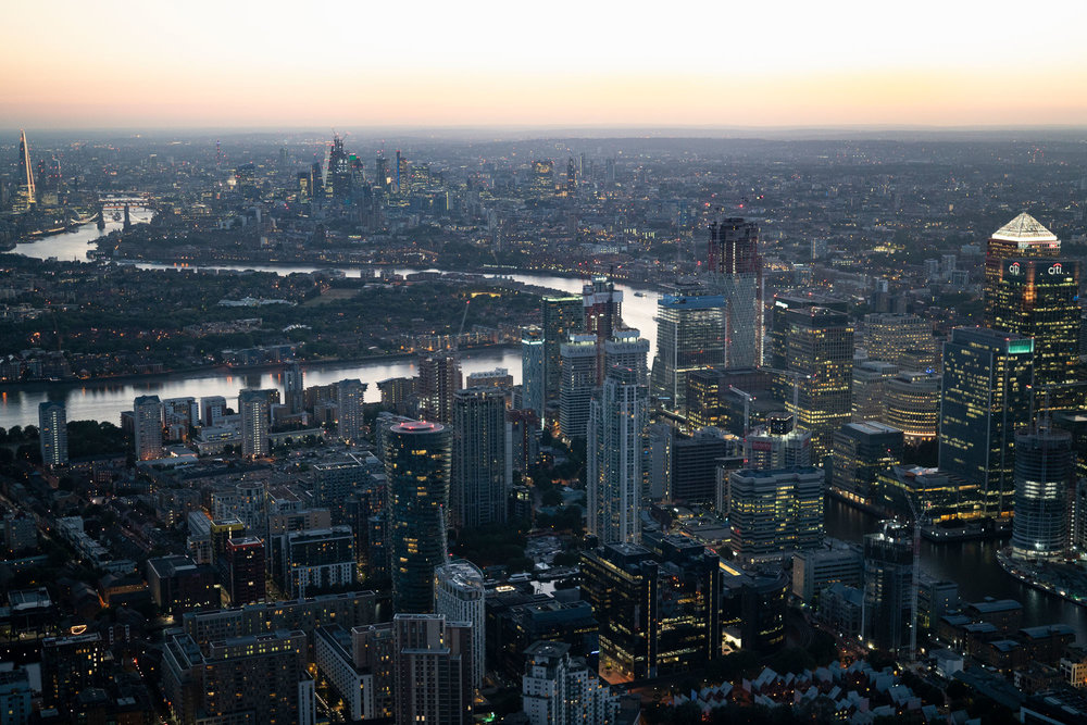 LONDON RISING, NATIONAL GEOGRAPHIC MAGAZINE / CANARY WHARF AND THE CITY OF LONDON