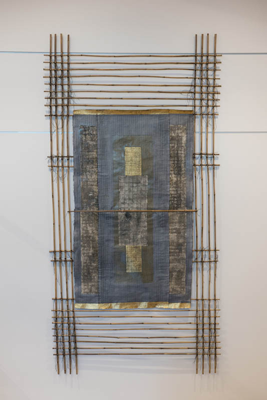 5'x10'  Handmade Paper with Hand Built Bamboo Frame by Susan Singleton