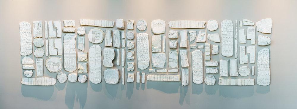 12' x 2.5' Porcelain by Patricia Sannit