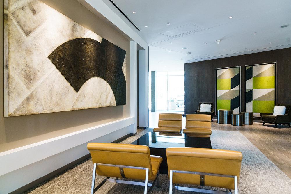 Acrylic and Raised Panel on Wood ; Acrylic on Wood with Hand Built Frames