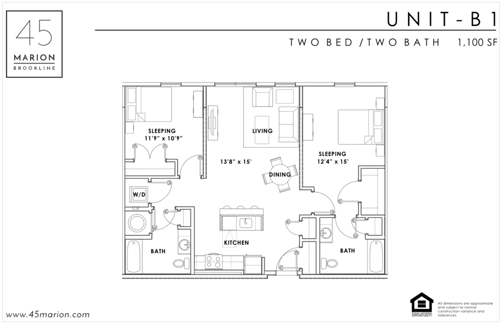 Two Bed / Two Bath
