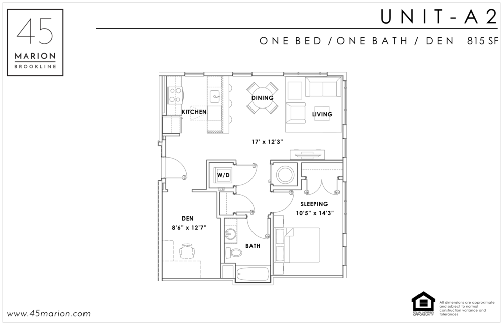 One Bed / One Bath / Den