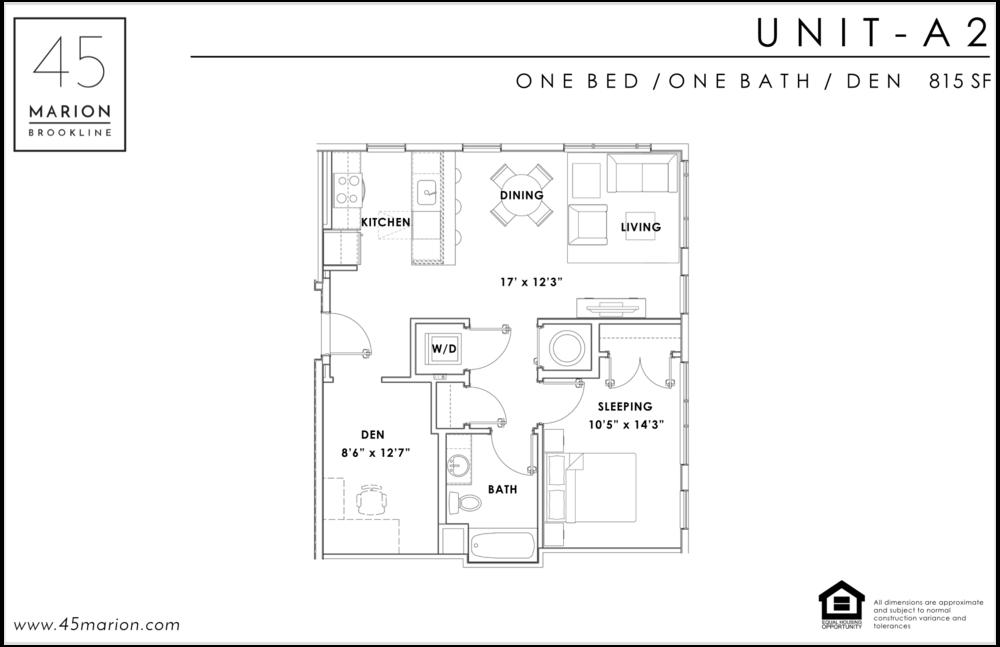 One Bed / One Bath / Den