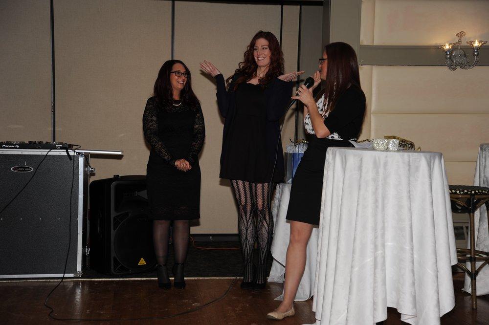 Left:  Gina Schreier.  Center:  Trista Kane.  Right:  Laura Pallotta