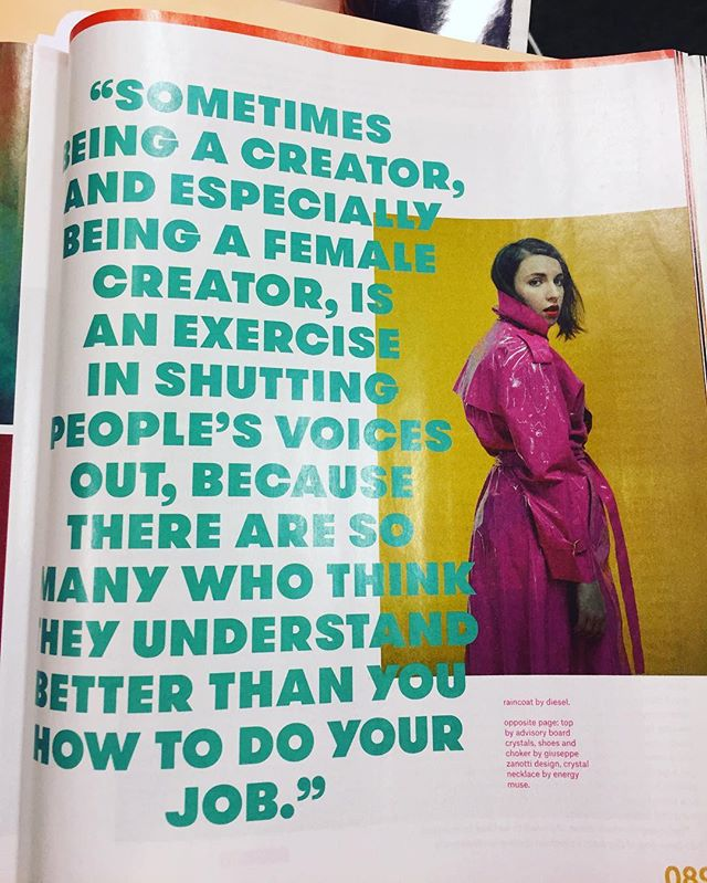 Tell 'em @lenadunham 👊🏼 a lot of times it is so hard to hear your own voice in this life- keep pushing to #doyou