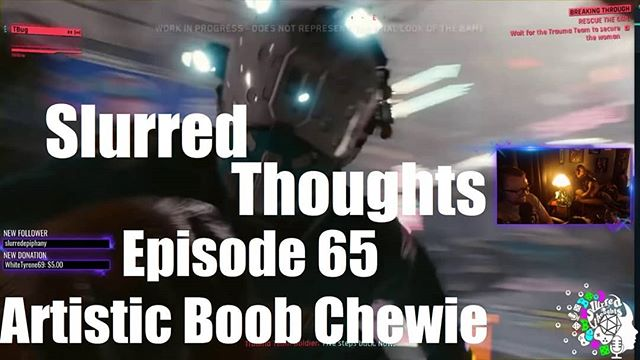 Episode 65 is up. A little hiatus, but Slurred Thoughts is back for good. We talk about the upcoming movie releases including The #Predator and #Venom. We also get excited about the the upcoming releases of #RedDeadRedemption2 #CyberPunk2077 Shadow of the #TombRaide and #Fallout76. Enjoy.  Go to slurredthoughts.net to watch or download and subscribe to the #podcast  Follow us at twitch.tv/slurredthoughts to watch live every other weekend  Subscribe to our YouTube channel as well as the podcast on iTunes, Google Play or your favorite podcast app.  Link in bio.  Thank you for supporting  #twitch #starwars #geek #comics #marvel #gaming #nerd #gameplay #gamer #gamergirl #comicbook #pubg #fortnite #overwatch #blizzard #fallout #skyrim #dnd #roleplaying #tabletop #dandd #anime #blackout