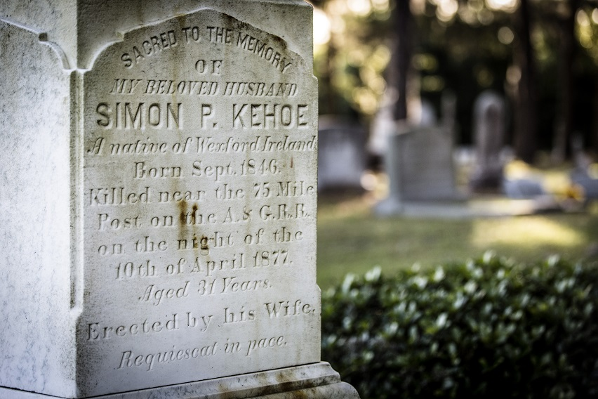 Simon Kehoe Grave, Catholic Cemetery, Savannah, Georgia