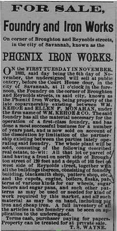 Savannah Morning News.  (2 November 1883) p. 4.