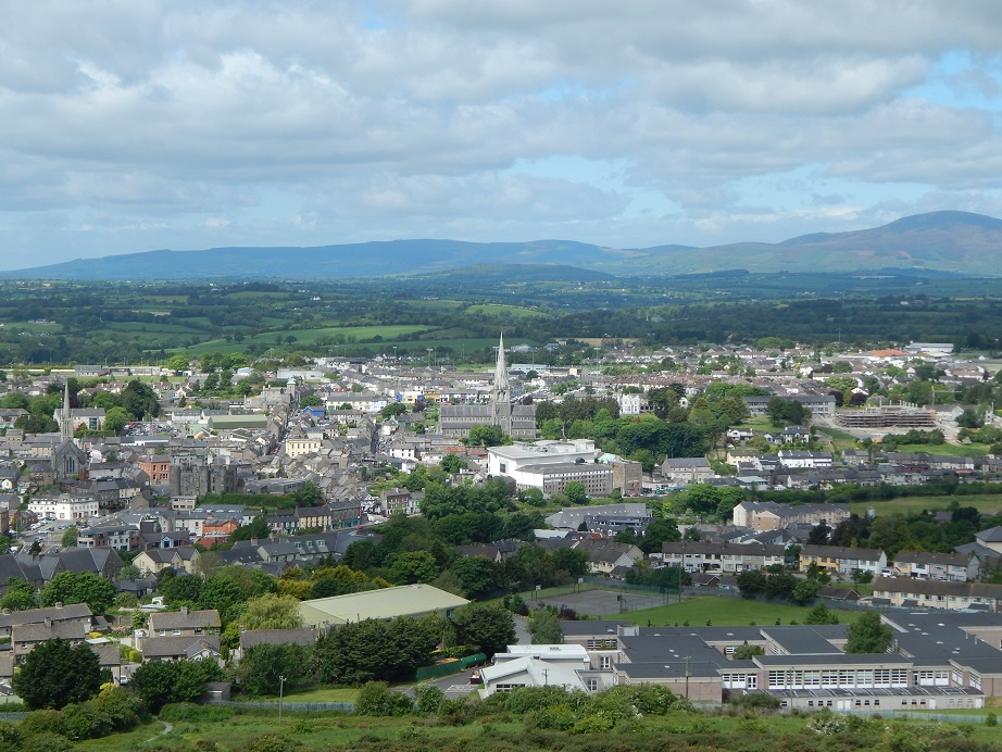 Enniscorthy, County Wexford, view from Vinegar Hill