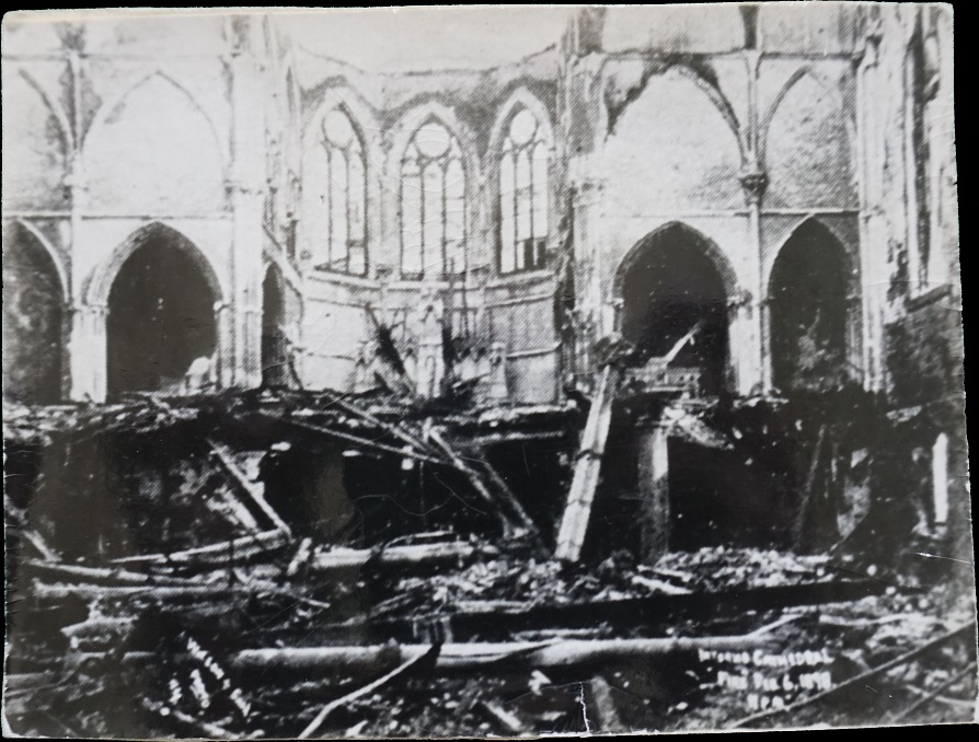 Cathedral of St. John the Baptist After the Fire  (1898). Diocese of Savannah Archives, Savannah Georgia.