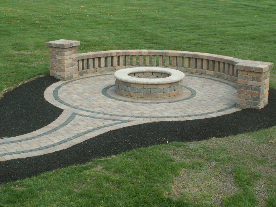 Karcher Fire Pit Built-In Seating