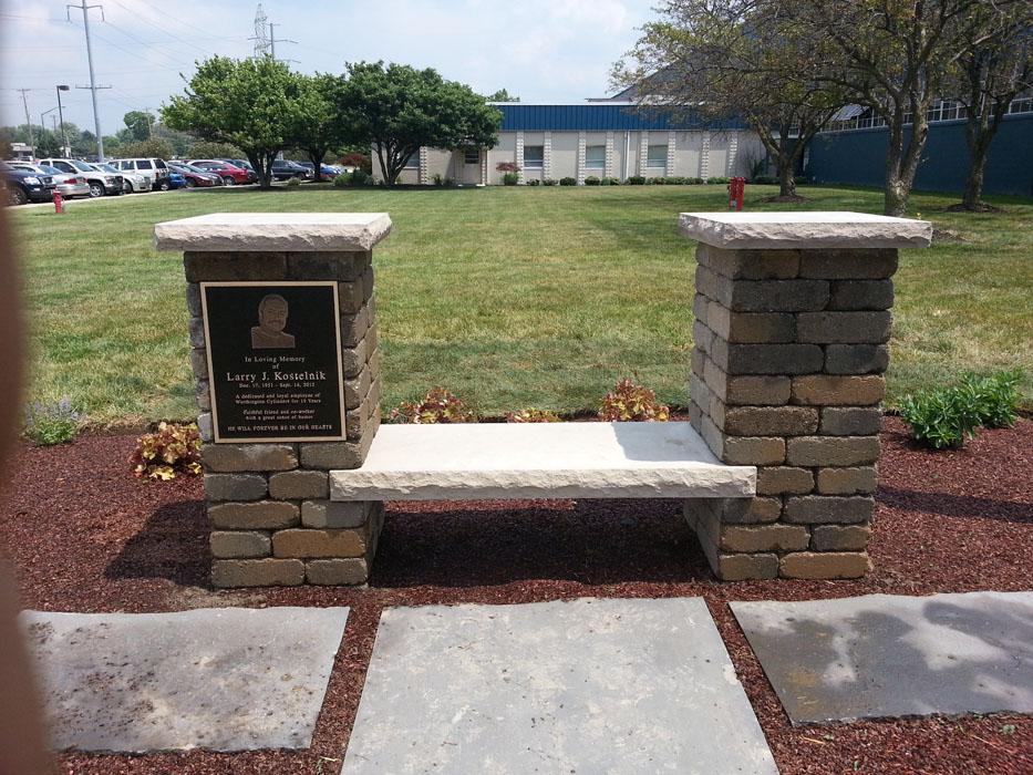 Worthington Industries Memorial Column Bench