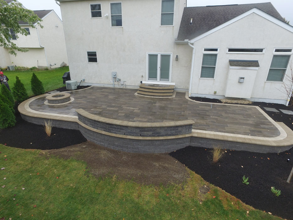 Larimore Seat Wall on top of Retaining Wall