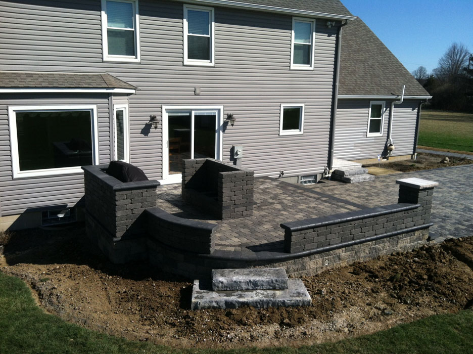 Barreca Seat Walls on Retaining Wall