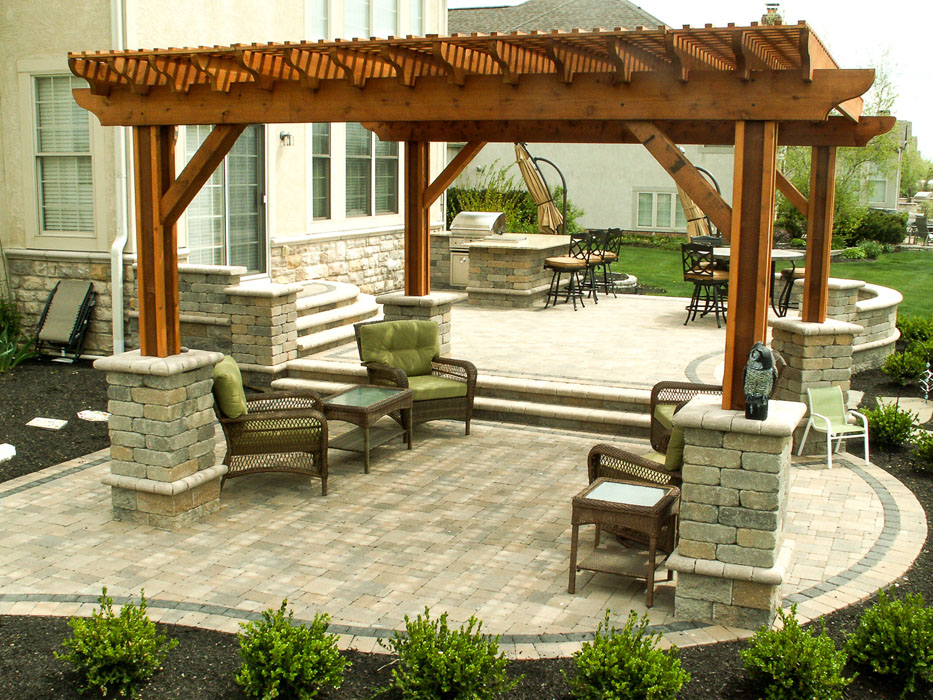 Sells Pergola with Custom Staining