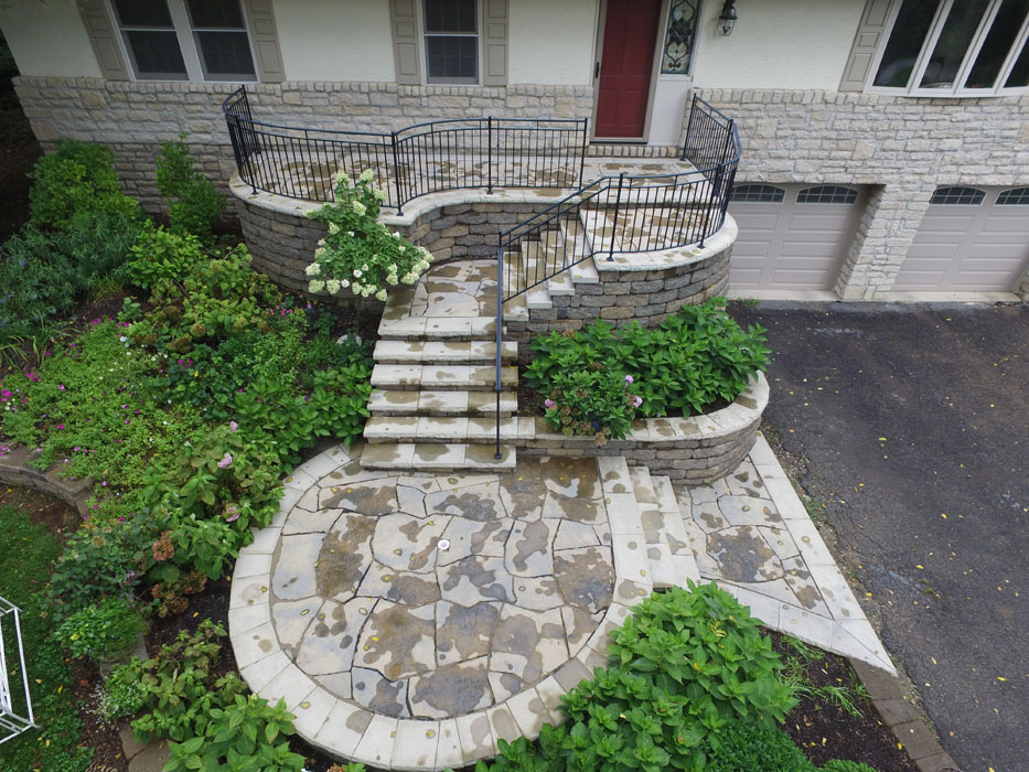 Grandstaff Tiered Front Entry Steps