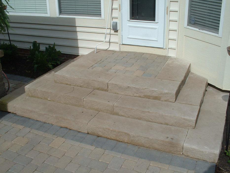 Daron 3 Directional Limestone Tread Steps