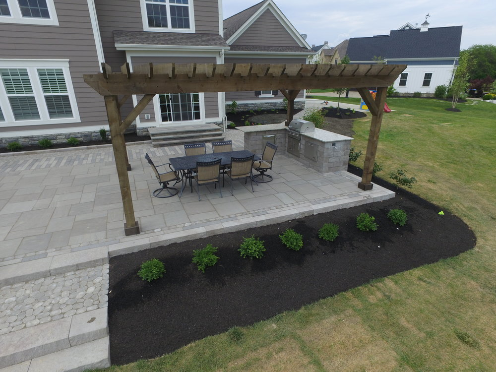 Wingham Stained Cedar Pergola