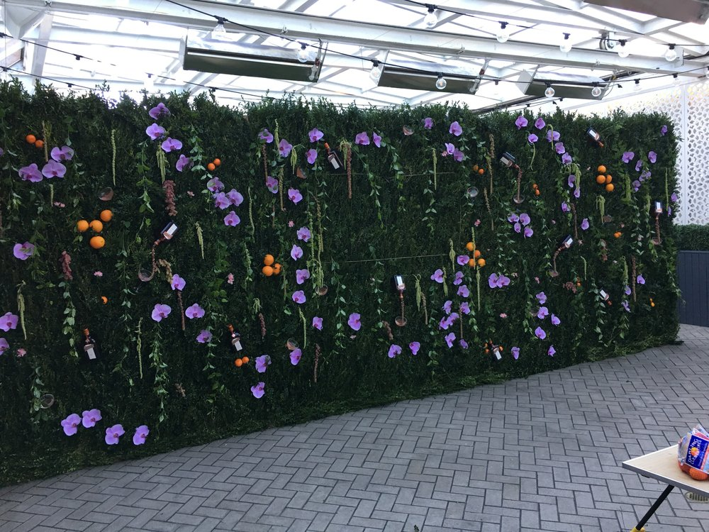 Custom Flower Wall