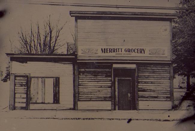 """Merrett's Grocery"" tintype 12"" x 15"""