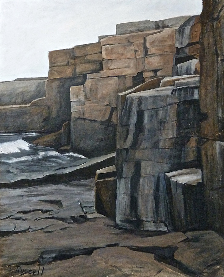 """Schoodic Point XXIII""  oil on canvas  36"" x 44"""