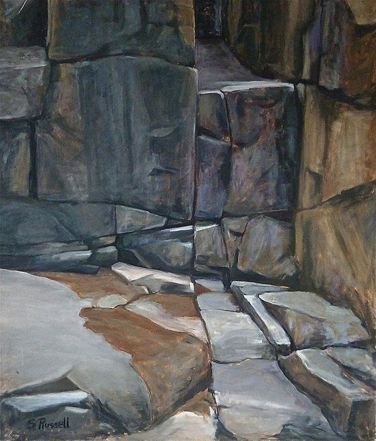 """Schoodic Point XXI""  oil on canvas   36"" x 42"""