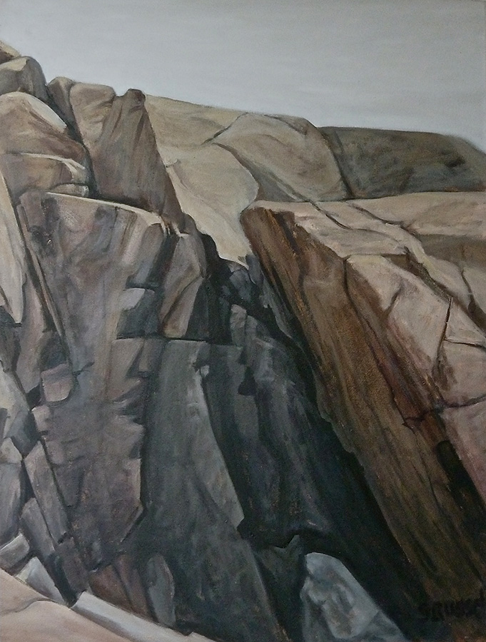 """Schoodic Point XXII""  oil on canvas  30 1/2"" x 40"""