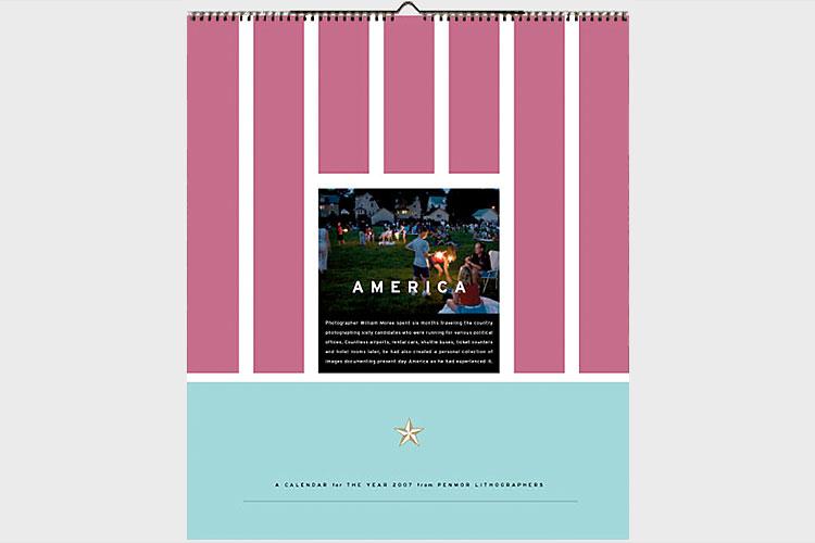 Penmor calendar Calendar designed by Matt Ralph and Plainspoke Design for Penmor Lithographers.