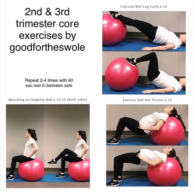 Balance Ball Exercises For Pregnancy: Stability Ball Core Workout T