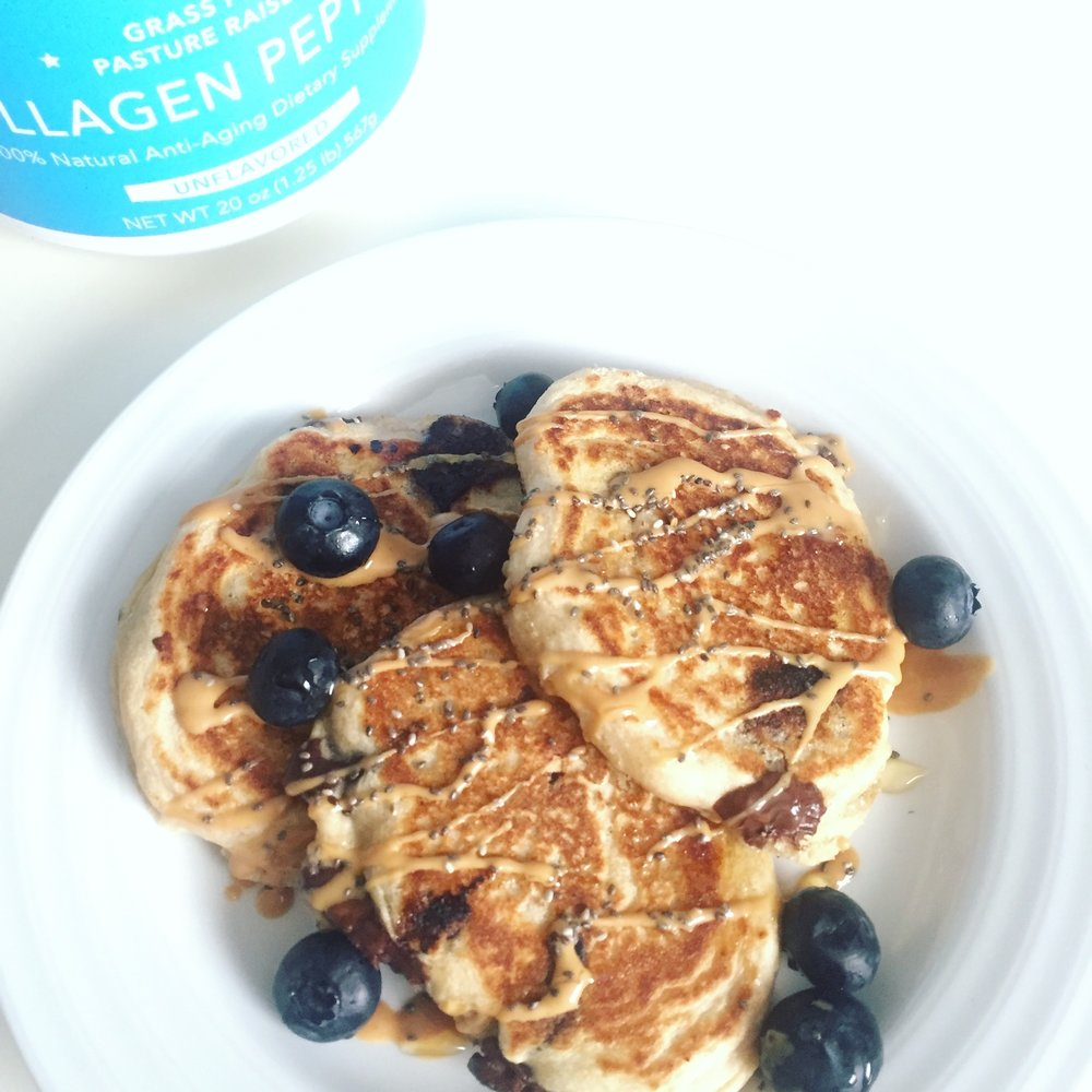 Chocolate Collagen Pancakes