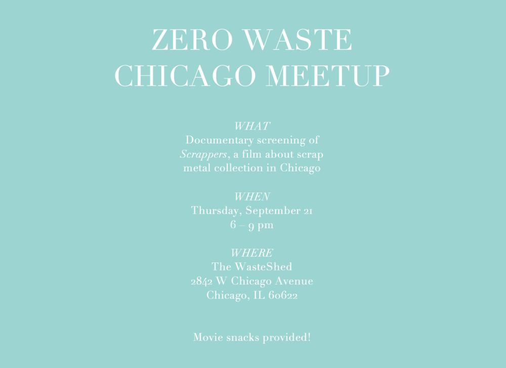 Zero Waste Chicago September 2017 meet-up