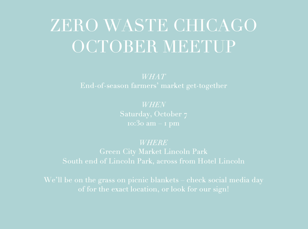 Zero Waste Chicago October 2017 community meet-up