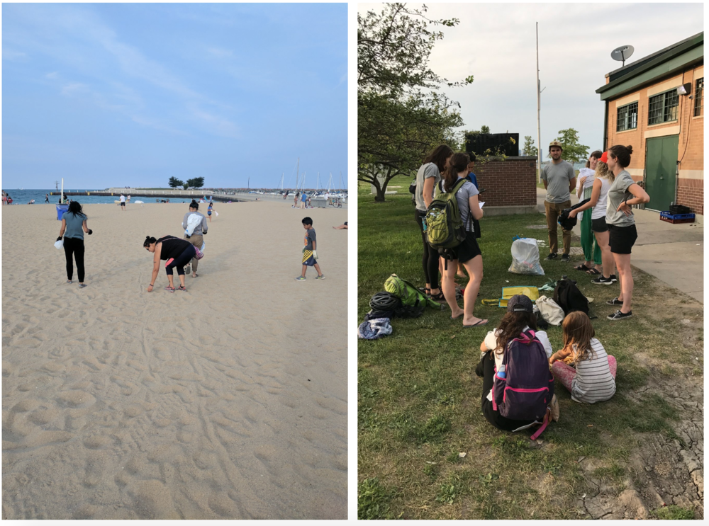 Zero Waste Chicago beach clean-up volunteer day