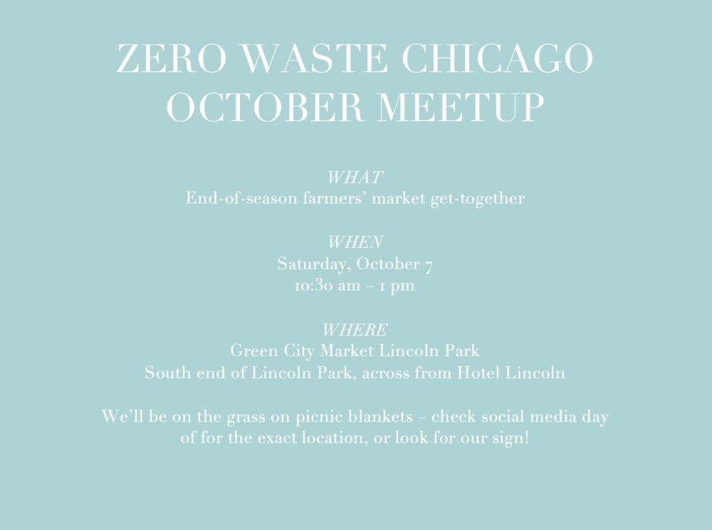 Zero Waste Chicago October 2017 meet-up
